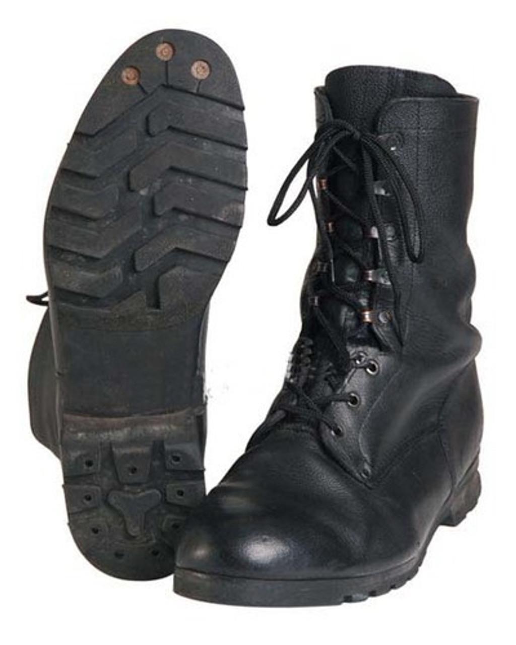 Czech M90 Black Combat Boots from Hessen Antique