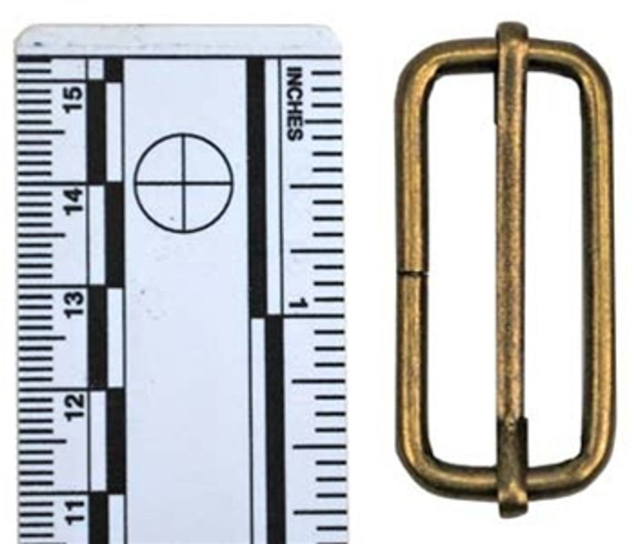 1.5 inch (3.8cm) Friction Slide Buckle. from Hessen Antique