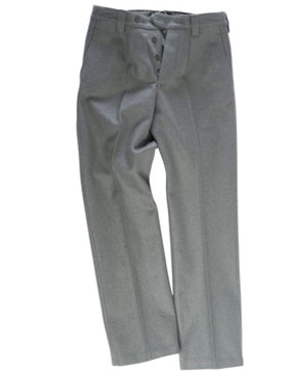 East German EM Grey Wool Service Pants from Hessen Surplus