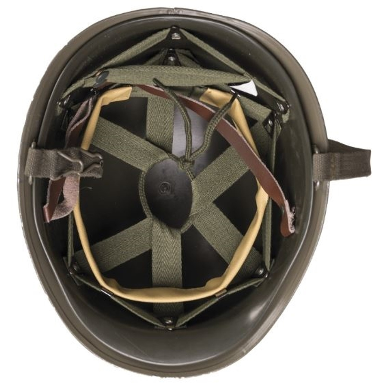 Austrian M1 Style OD Helmet With Liner from Hessen Antique