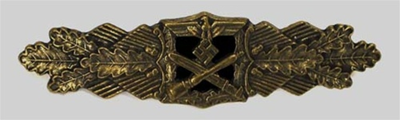 Close Combat Clasp in Bronze (Nahkampfspange) from Hessen Antique