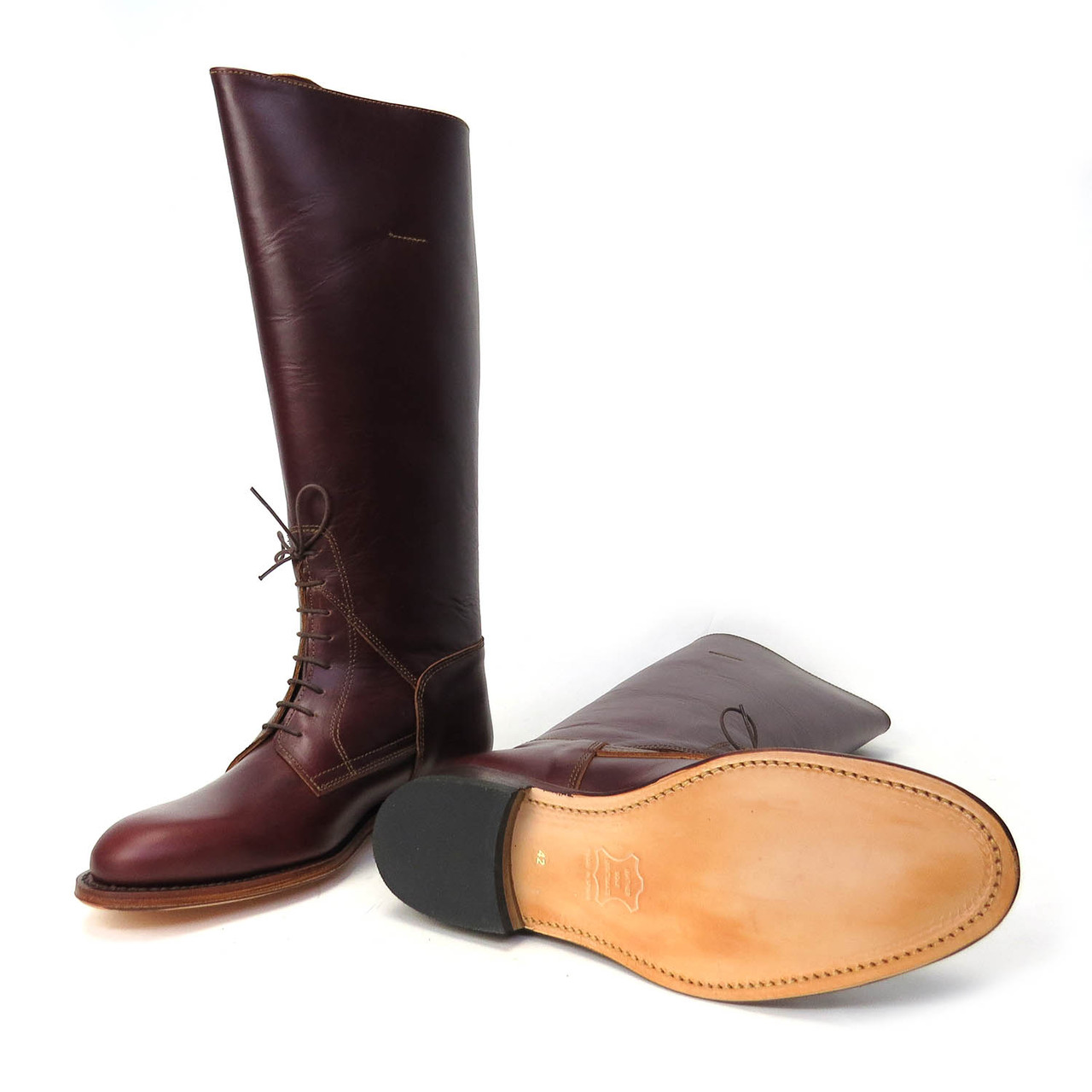 Officer Brown Riding Boots