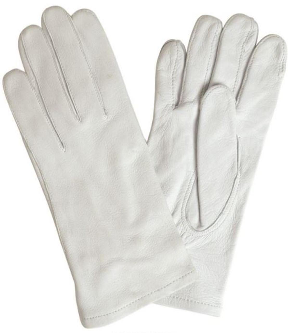 BW Wachbataillon White Leather Parade Gloves