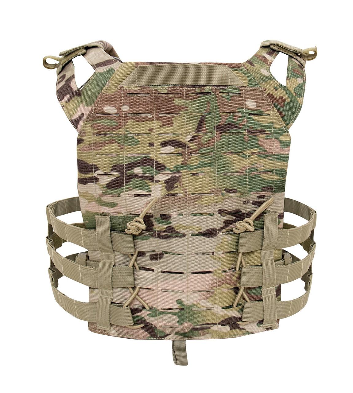 Laser Cut Lightweight Armor Carrier MOLLE Vest -MultiCam