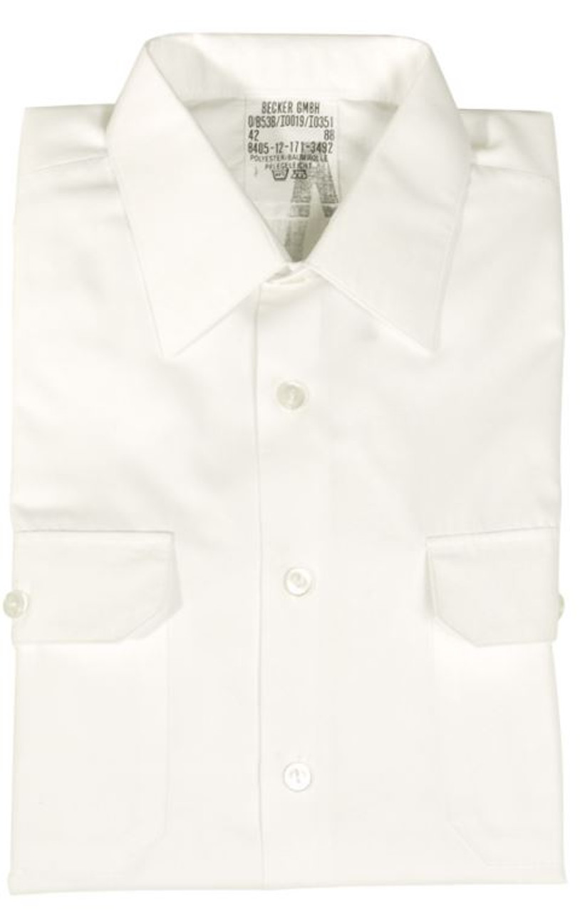 German White Long Sleeve Service Shirt