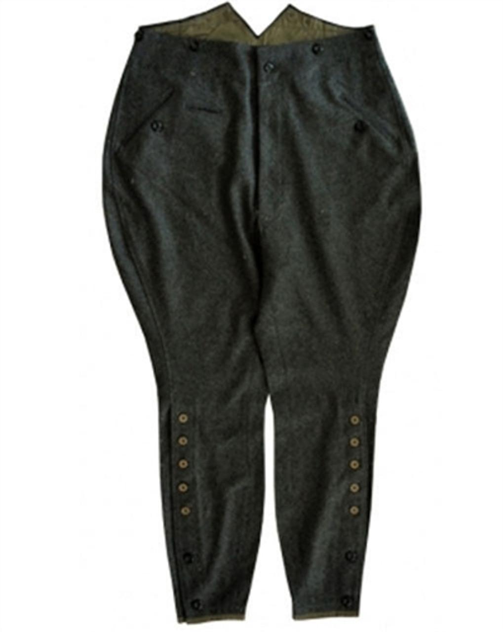 M1910 Stone-grey Breeches in Wool