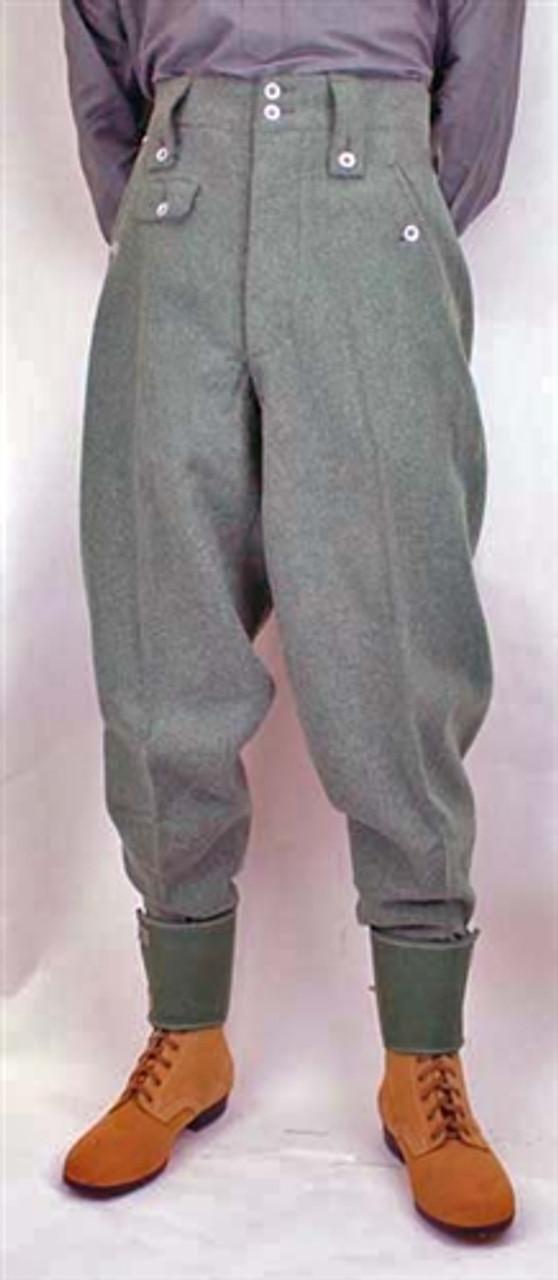Custom Field-grey Wool Trousers
