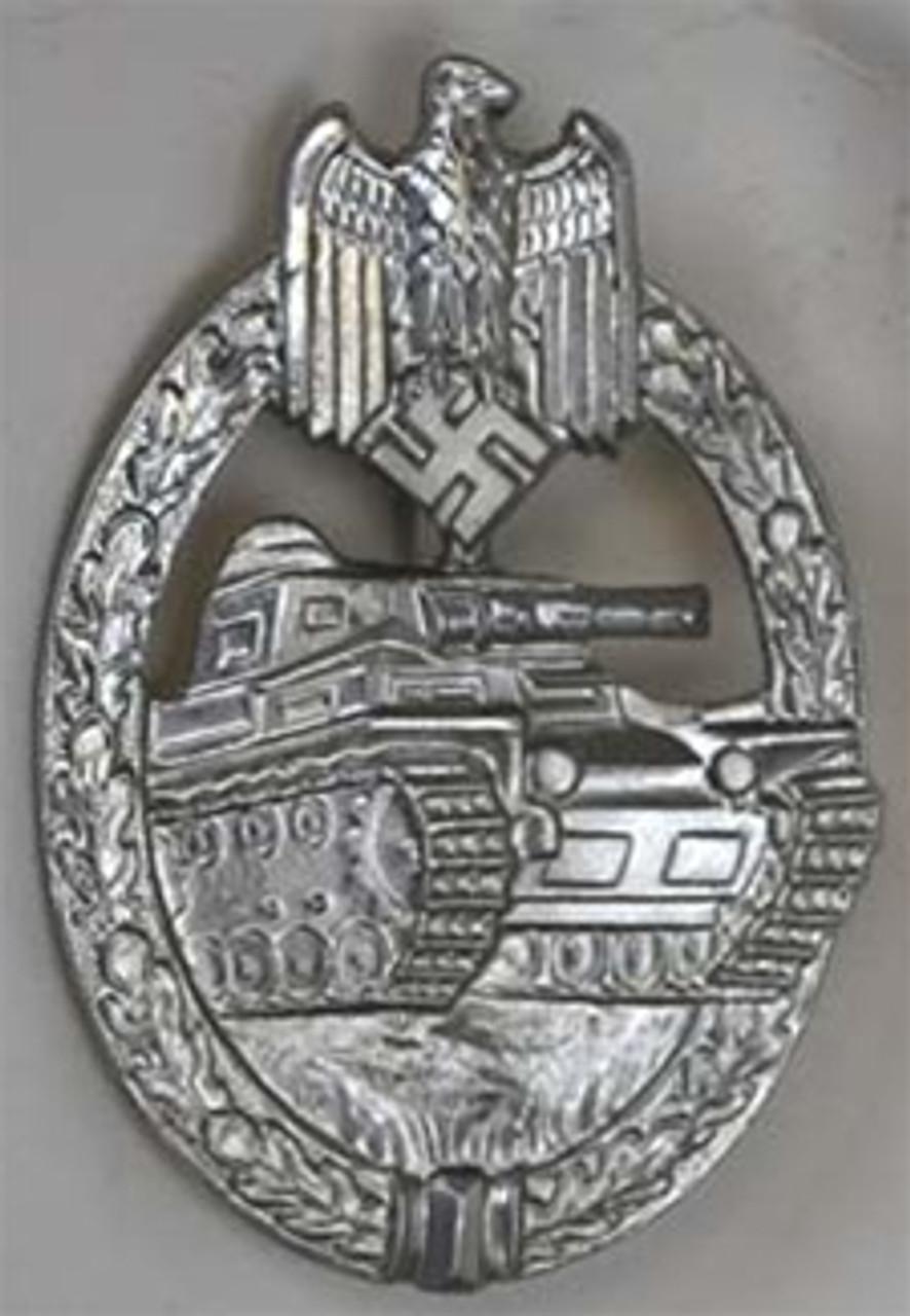 The Tank Battle - Silver (Panzerkampfabzeichen) from Hessen Antique