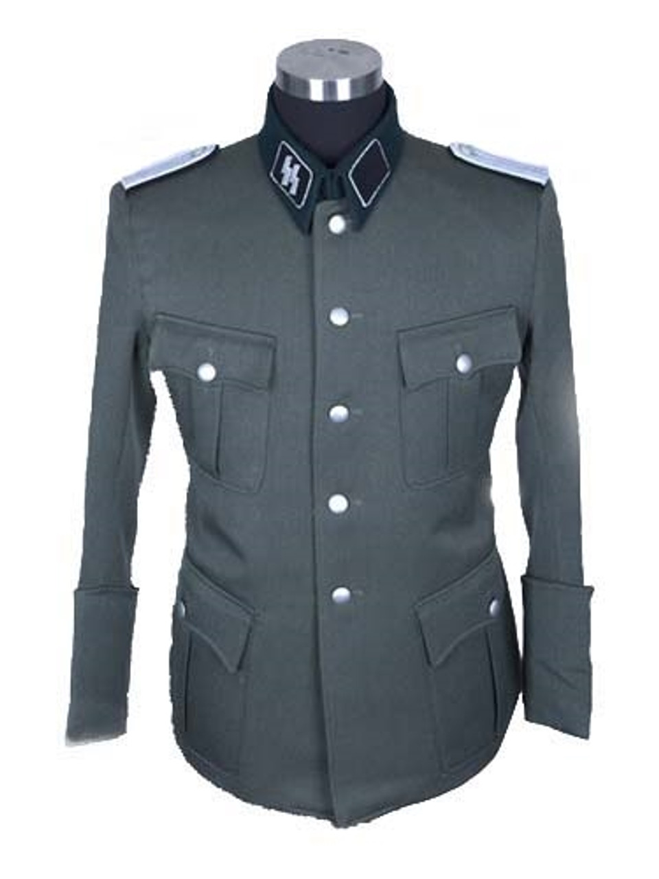 SS German Officer Dress Tunic in Gabardine Twill with insignia from Hessen Antique