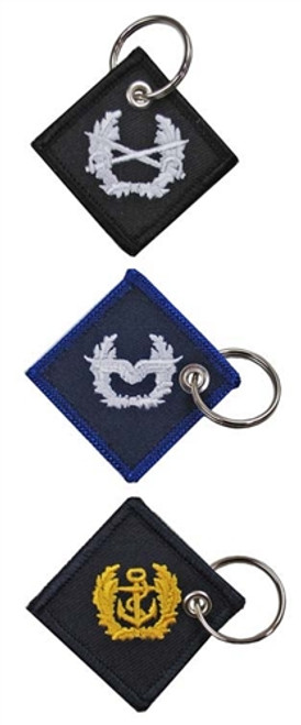 Small Bundeswehr Embroidered Key Chain Fobs from Hessen Antique