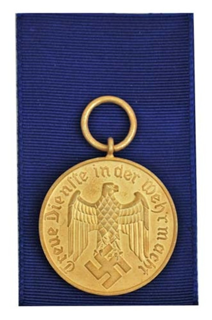 12 Year Service Medal With Ribbon from Hessen Antique
