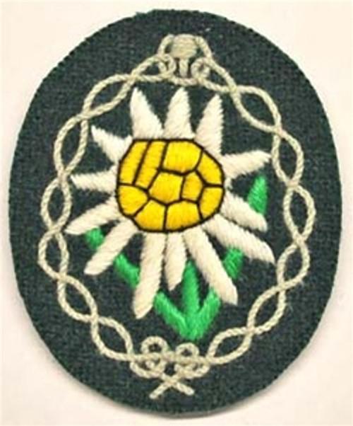 Gebirgsjäger Edelweiss Sleeve Patch