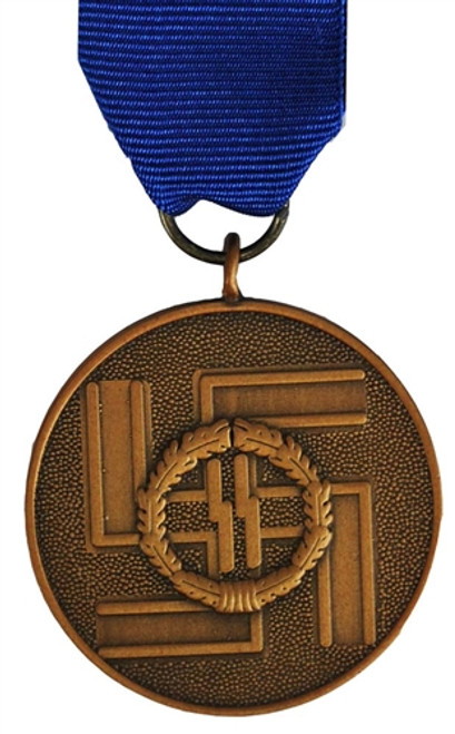 SS 8 Year Service Medal With Ribbon from Hessen Antique