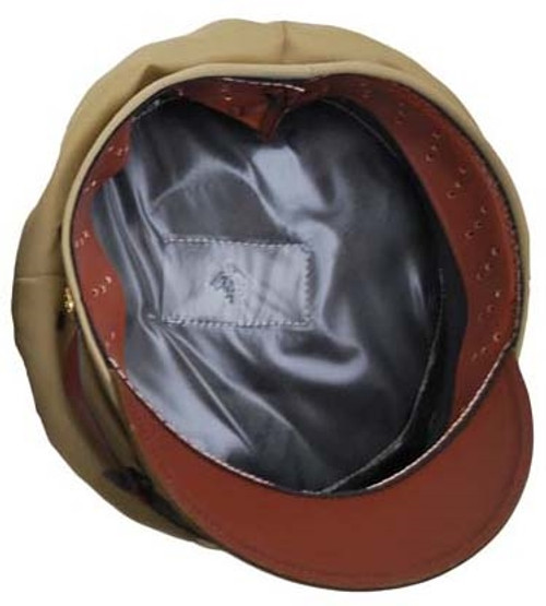"""US WWII Officers Khaki """"Crusher"""" Style Cap from Hessen Antique"""