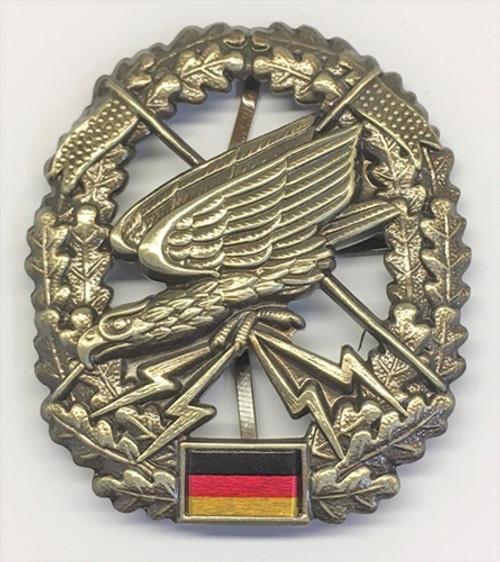 Bw Fernspähtruppe Beret Badge from Hessen Antique from Hessen Antique