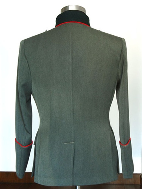 Piped German Officer Dress Service Tunic in Gabardine Twill from Hessen Antique