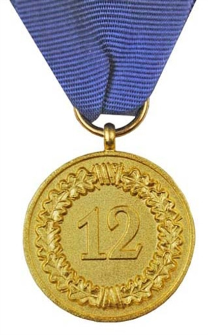 Air Force  12 Year Service Medal With Ribbon & LW Eagle Device from Hessen Antique