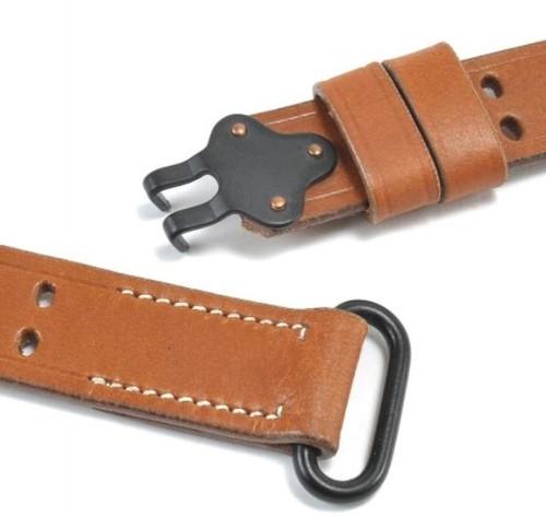 M1 Garand/Springfield 1907 Pattern Leather Sling - Steel Hardware from Hessen Antique