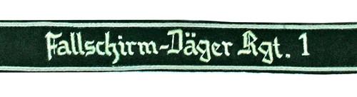 Fallschirmjäger Regiment 1 Cuff Titles from Hessen Antique
