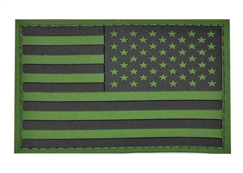 PVC Subdued Reverse American Flag - With Hook Fastener from Hessen Antique