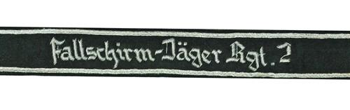 Fallschirmjäger Regiment 2 Cuff Titles from Hessen Antique