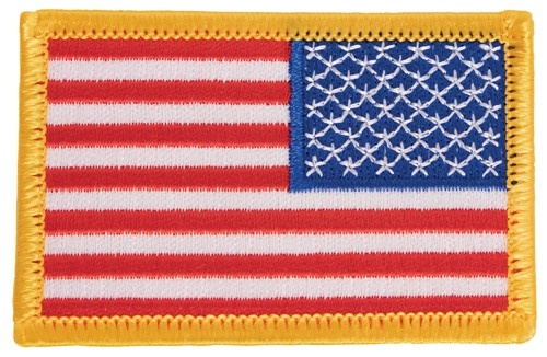 US, FLAG, PATCH, full color, reverse, sew on.