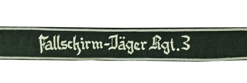 Fallschirmjäger Regiment 3 Cuff Title from Hessen Antique