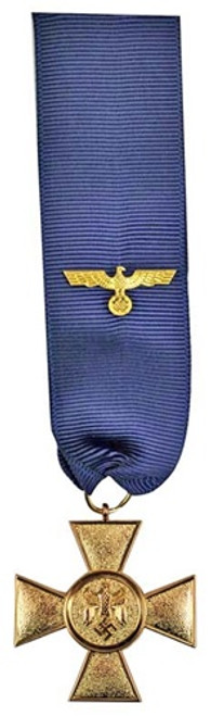 25 Year Service Medal With Ribbon from Hessen Antique
