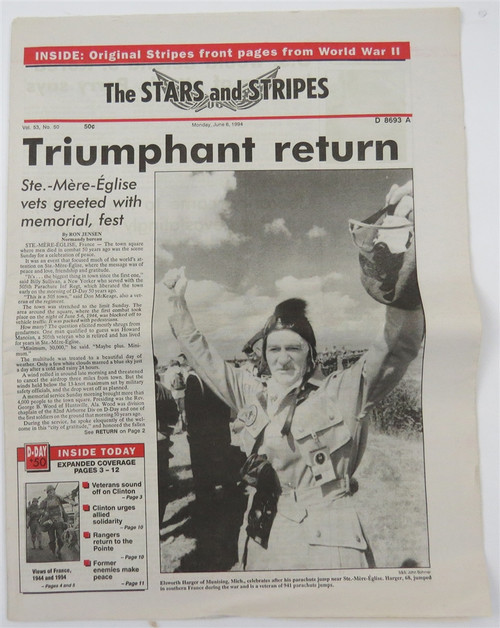 D-Day, The Stars and Stripes, June 6 1994