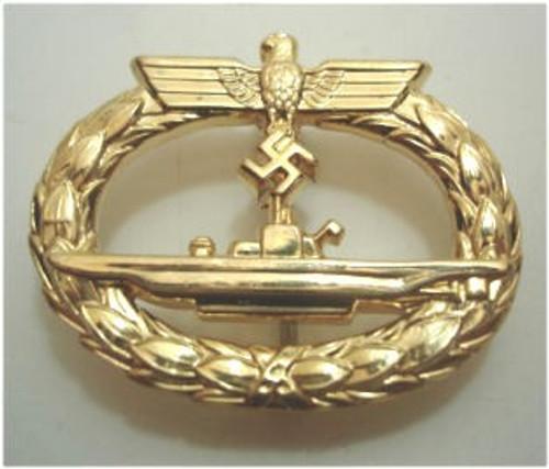 Kriegsmarine Submarine War Badge (U-Bootkriegsabzeichen) from Hessen Antique