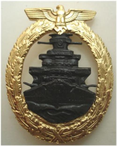 Kriegsmarine High Seas Fleet War Badge (Flotten-Kriegsabzeichen) from Hessen Antique