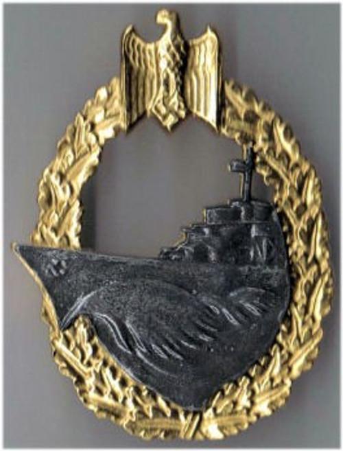 Kriegsmarine Destroyer War Badge (Zerstörer-Kriegsabzeichen) from Hessen Antique