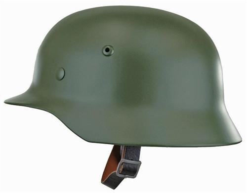 Reproduction M35 German Helmet - Apple Green Hessen Antique