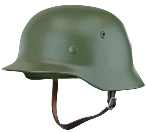 Reproduction M35 German Helmet - Apple Green Hessen Antique