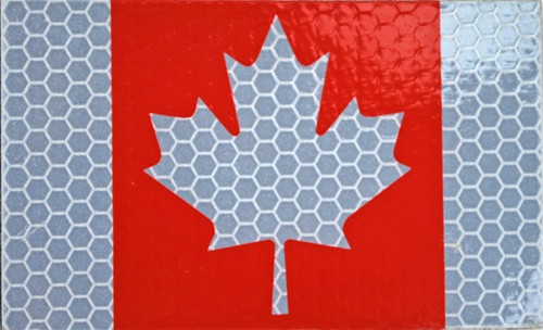 IR Full Color Canadian Flag Insignia from Hessen Antique