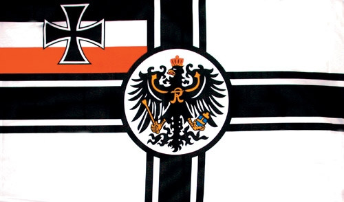 WWI German Imperial Battle Flag from Hessen Antique