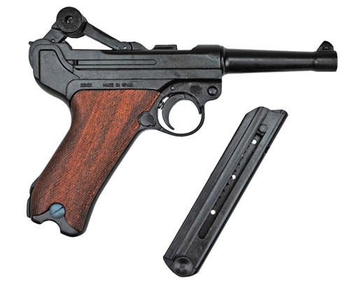 P-08 Luger Pistol W/ Wood Grips from Hessen Antique