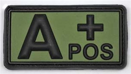 Bundeswehr Subdued PVC Blood Type Tab from Hessen Antique