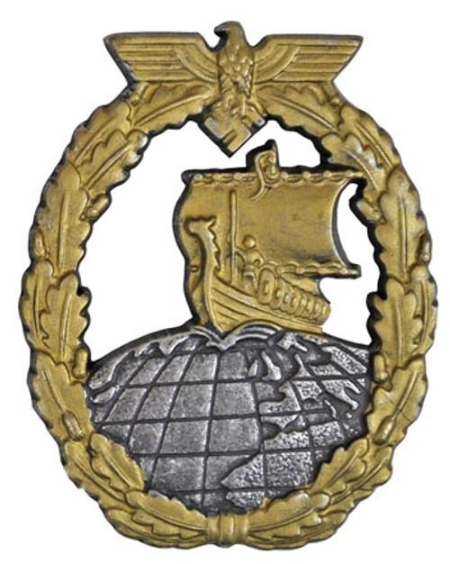 Kriegsmarine Auxiliary Cruiser War Badge from Hessen Antique