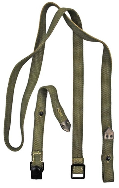 New Reproduction German Gas Mask Can Straps from Hessen Antique