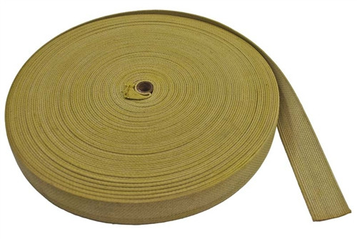 "1-1/2"" Khaki Webbing from Hessen Antique"
