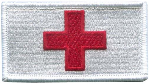 Red Cross Patch with Hook Fasteners from Hessen Antique