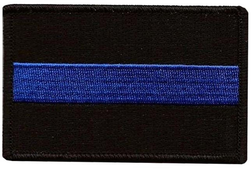 Thin Blue Line Flag Patch - Embroidered from Hessen Antique
