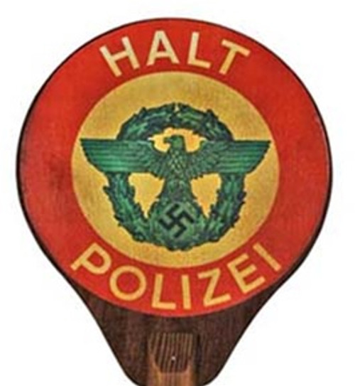 German Police Traffic Control Paddle from Hessen Antique