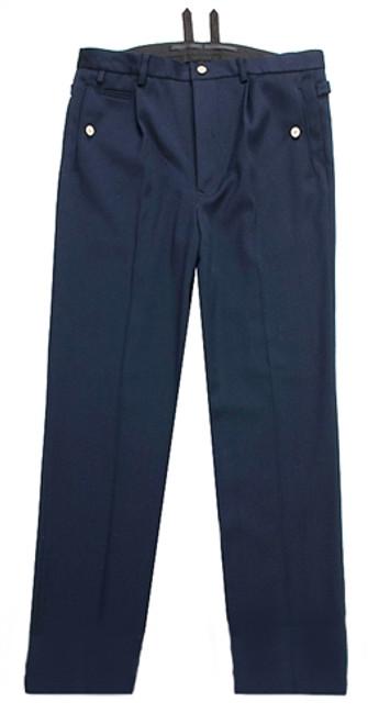 KM Officer Navy Blue Gabardine Trousers from Hessen Antique