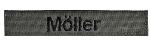 Bundeswehr Olivgrün Name Tape from Hessen Antique