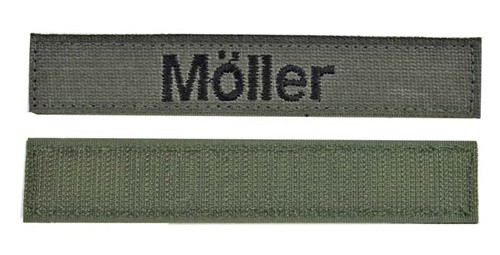 Bundeswehr Olivgrün Name Tape from Hessen Antique