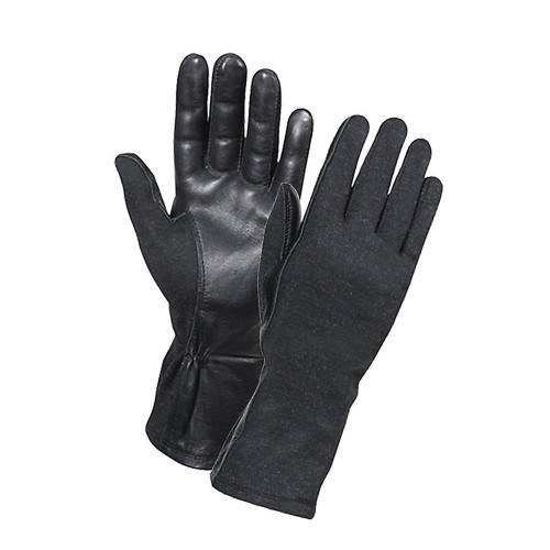 G.I. Type Flame & Heat Resistant Flight Gloves - Black