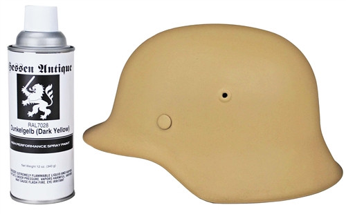 German WWII Dark Yellow (Dunkelgelb) Helmet Spray Paint