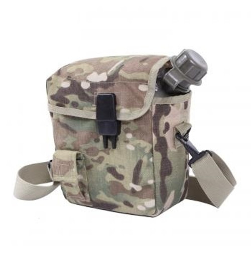 MOLLE compatible cover for the 2 Quart canteen in MultiCam.